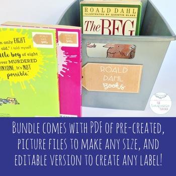 Farm House Rustic Classroom Library Labels Fully Editable Decor