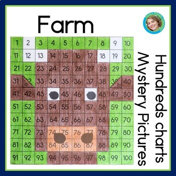 Farm Hundreds Chart Mystery Pictures By PaulaS Preschool And