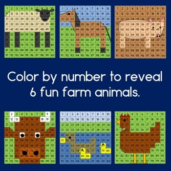 Farm Hundreds Chart Mystery Pictures