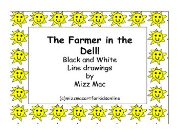 The Farmer in the Dell Coloring Sheets