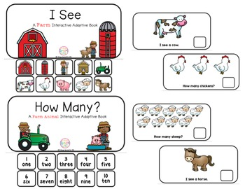 "Farm Interactive Adaptive books - set of 2 (""I See and ""How Many?)"