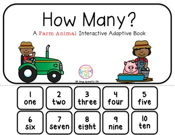 "Farm Interactive Adaptive books - set of 2 (""I See and ""How Many?)"