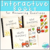 Farm Interactive Books: Answering Wh Questions