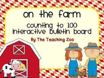 Farm Interactive Counting to 100 Bulletin Board