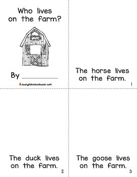 Farm Interactive Mini-Book