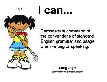 Farm Kids 1st grade English Common core standards posters