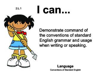 Farm Kids 2nd grade English Common core standards posters