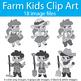 Farm Kids Clipart, Clip Art Kids