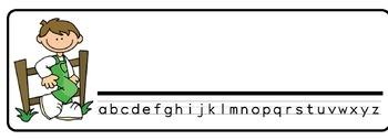 Farm Kids Theme Desk Nameplates (Set of Four)