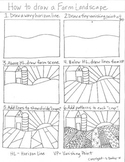 How to draw a Pattern Farm Landscape