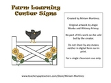 Farm Learning Center Signs