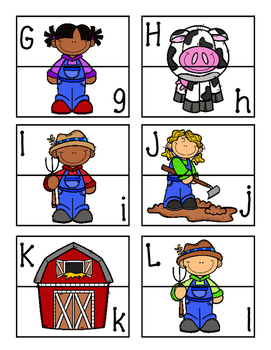 Farm Letter Matching Puzzles