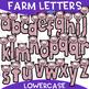 Farm Letters Clip Art - Cow and Pig Letters {jen hart Clip Art}