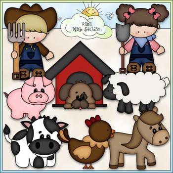 Farm Life Clip Art 2 - Farm Animals Clip Art - Farming - CU Clip Art & B&W