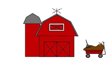 Farm Life - Barn and Wagon