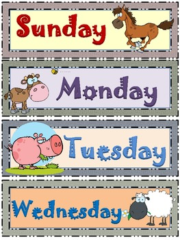 Farm Life Days of the Week