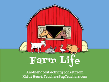 Farm Life Preschool Activity Packet