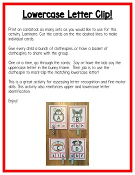 Farm Literacy Centers: Letters for Preschool, PreK, K & Homeschool