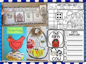 Farm Literacy Centers for Kindergarten (Bundle)