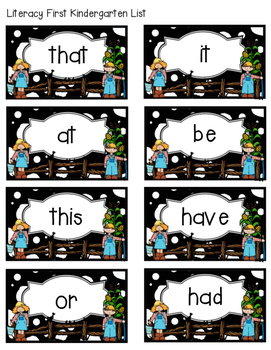 Farm Literacy First Sight Word Flash Cards