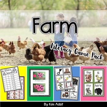 Farm Literacy Game Pack