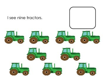 Farm Literacy and Math Counting; Ten Frames; Flipbooks; Autism; Special Ed.