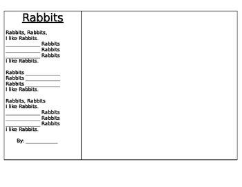 Farm Mammals poetry frames in English