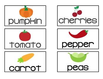 Farm Market Vocabulary Web