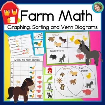 Farm Math: Sorting, Graphing and Venn Diagram Math Centers