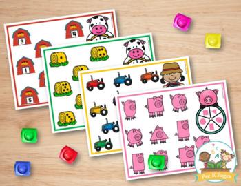 Farm Math Activities for Pre-K and Kindergarten