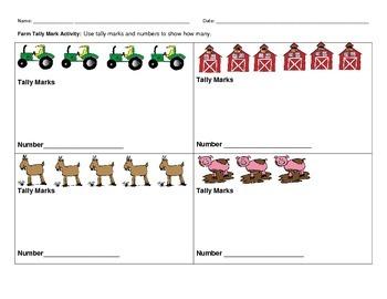 Farm Math Activity Packet