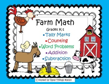 Farm Math Activity Packet