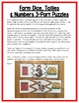 Farm Math Centers:  Number Sense for Preschool, PreK, K & Homeschool
