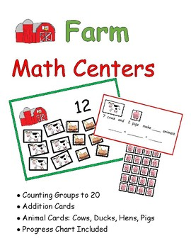 Farm Math Centers: Numbers to 20, Addition to 10: Includes