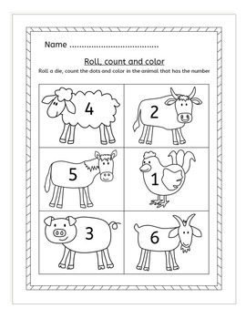 Farm Counting to 20 worksheets, activities and task cards
