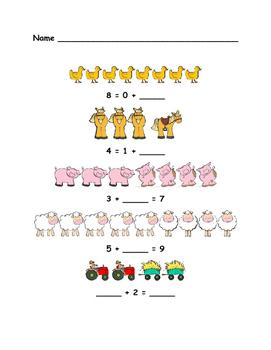 Farm Math - First Grade