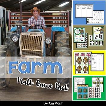 Farm Math Game Pack