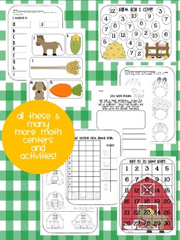 Farm Math, Literacy & Informational Centers! {Common Core Activities for K-1st}
