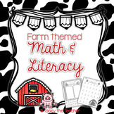 Farm Math & Literacy Pack | NO PREP