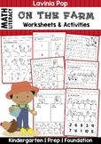 Farm Math & Literacy Worksheets & Activities No Prep