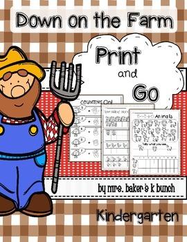 Farm Math Packet Print & Go~~~~~