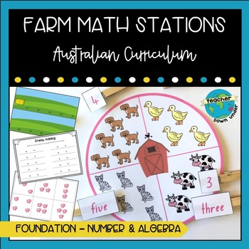 #newdeals Farm Math Stations : Australian Curriculum