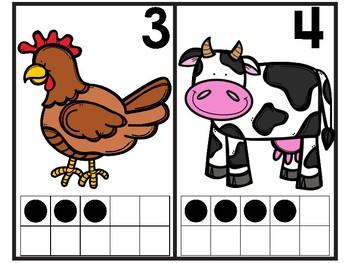 Farm Math Ten Frame