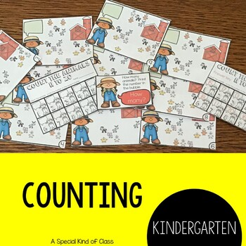 Farm Math Work Station Activities for numbers 11 to 20