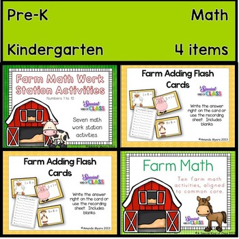 Farm Math Work Station Bundle