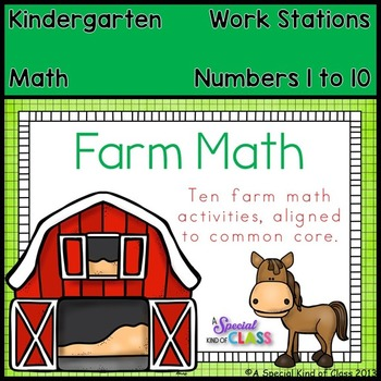 Farm Math Work Stations - Aligned to Common Core