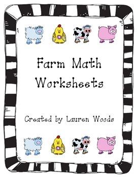 Farm Math Worksheets
