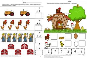 Farm Math Centers, Preschool Math, Special Education Math, Kindergarten Math