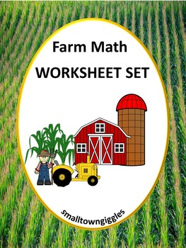 Farm Counting, Sorting,  Math Center Worksheets PK, K, Spe