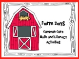 Farm Math and Literacy Activities